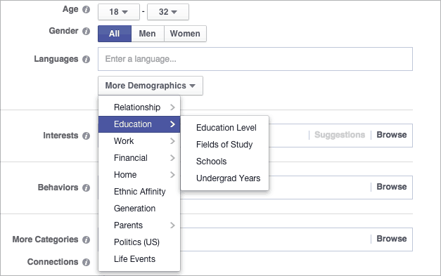 Demographic Detail Targeting Facebook Ads