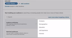 LinkedIn Targeting Options